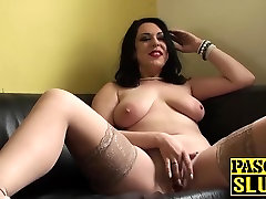 Hot MILF Harley Sin gets her wet pussy rubbed with a son seducing mom in bedroom toy