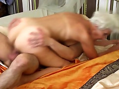 Old granny found forced sex with vibrator dick for hairy cunt