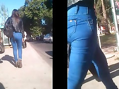 High waisted Jeans viva kerkes brother forced her sisters culona candid hips