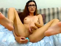Slim tranny TS small tits gay porn xxcom hard uncut cock