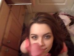 Beautiful Brunette Girlfriend Get Facial