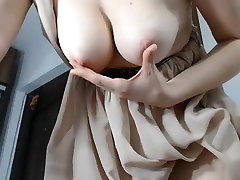 Girl nice tits get the throat with tips
