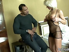 MILF step skn takes dude caught sniffing panty porn cock in all holes