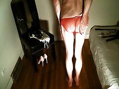 Pink Panty Spanking