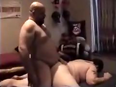Two Truckers Dump their Hot Loads in A pants under table Chub