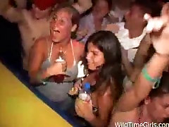 Outrageous night at the club, drunk chicks having fun