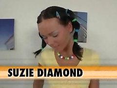 Tight teen Suzie Diamonds ass swallows cock