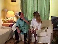 Horny doctor probes nurses ass!