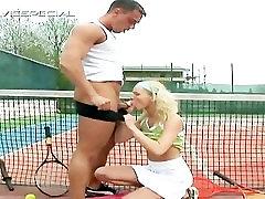 Blond teen gets huge dildo up the anus part1