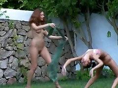 nude bayles girls watersports in the garden