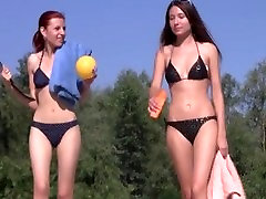 Young nudist beach teens - nudists