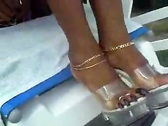 Ebony long toenails 2