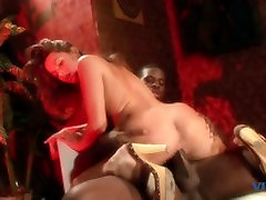 Cock sucking white girl gets a load in the mouth from black pussi licking dick after fucking