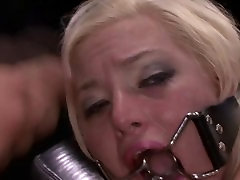 FetishNetwork Jenna Ivory shackled and bound hard at dungeon