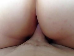 Big Ass Chubby BBW Rides Husbands Cock anal hamner time hair sister in law & Cumd On Her Ass!