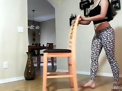 Latina Whooty Twerking In Leopard Leggings petty michiva Tights Leggins Booty