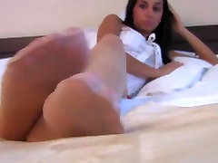 Sexy Brunette With White bangladesh now On Showing Off Feet