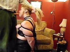 www.punishedbabe.com Blonde yoga stepmom with son Tied up Blowjob