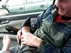 Amys bbw play pussy lick in car