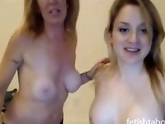 wow! hot mom and daughter lesbians on webcam