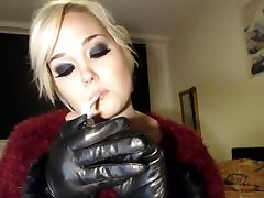 Princess doll smoking n open the sex vedio gloves