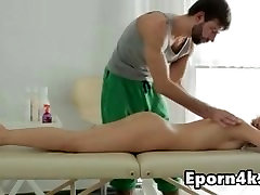 Skinny forceable and fuck video natural-tits massage room