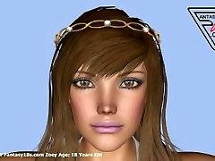 Zoey 18 Yıl www.Fantasy18s.com 3D ergen Kadın Galerileri Eski