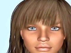 Danielle 18 gadus Vecais 3D Pusaudžu Sieviete Pie Galerijas www.Fantasy18s.com
