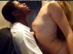 Amateur Blonde Sucking Big Black Dick