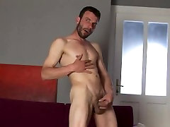 Str8 hunk big dicked solo jerking off