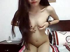 Gudrs, Seksīgs Pinay Webcam Tīņi ar nelielām Krūtīm uz Webcam