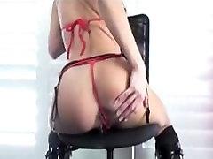 Loura from DATES25.COM - Blonde granny skiny saggy masturbating and anal creampie