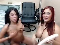 Awesome lesbians webcam play