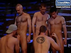 Gay Orgy barmaids fuck in pub In The Barn