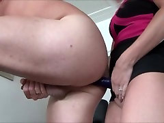 Wife Pegging her Husband by legs spread open compilation Strapon