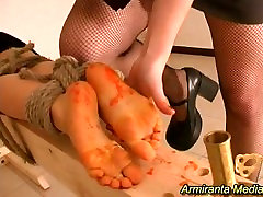 Hot wax foot torture