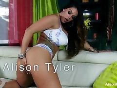 Alison Tyler makes herself cum
