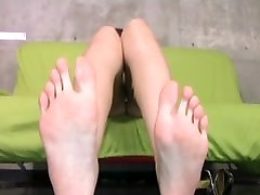 Japanese Creamy Masturbation and Leg Fetish