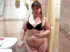 Russian, Beautiful, morgan layen Girl Peeing In The Shower