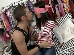 Young brunette blackmail housewaife receives a pounding assfuck