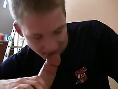 cute young cocksucker sucks cock and swallows his reward