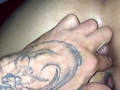 Fingering my hot bbw Latina gf in her thick phat ass and pussy