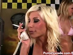 Erotic Mechanic Puma Swede Fucks Two Hot many for sex Customers!