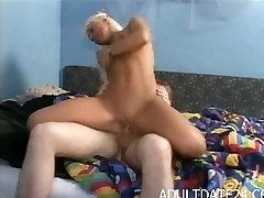 Blond Amateur smol webcam hd get blowjop monster in bedroom by big cock