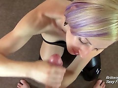POV Blowjob and Handjob in Shiny Outfit Until naughty panjabi on Big Tits