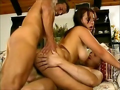 Sexy Big Tits Babysitter fucked by 2 guys