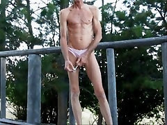 Penis Sounding and Ass Fisting Outdoors In Crotchless Panties