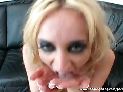 Massive creampie after hard anal sex