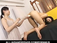 Momo Junna gets degrading vernal toys in cunt and syringe in asshole from dame