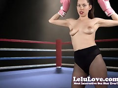 Lelu big hot japanese-Topless Boxing Strutting And Flexing
